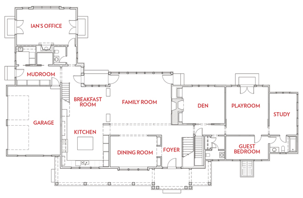 weston home renovation floor plan