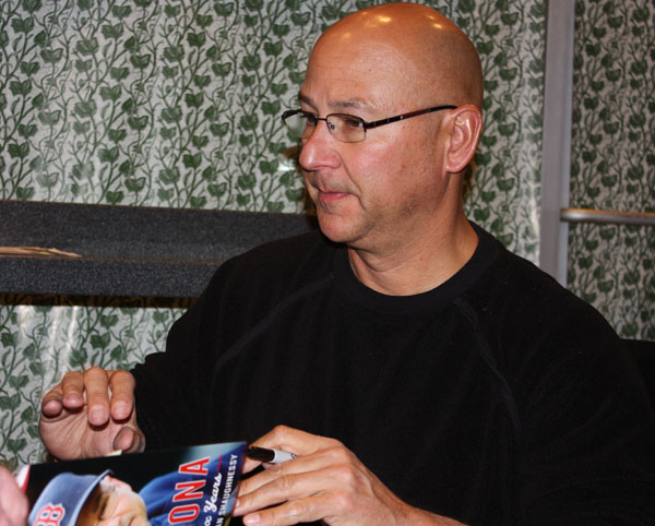 Terry Francona signing books