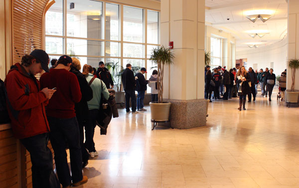 line in the prudential center