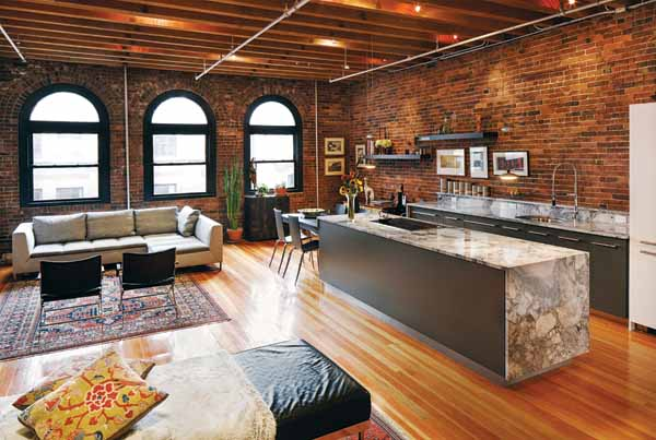 Loft Living Magazine Sliding Doors Small Space Living In A Leather District Loft