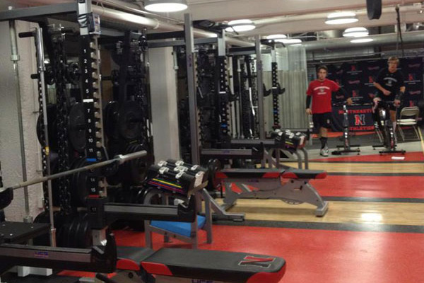 weight room at Northeastern