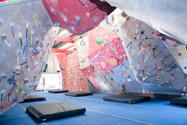 Rock climbing gym in Boston