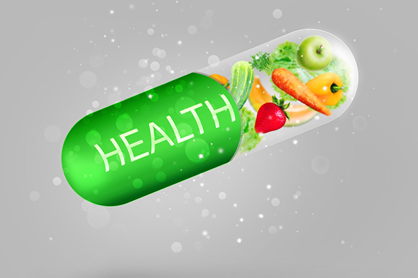 Vitamins don't replace food