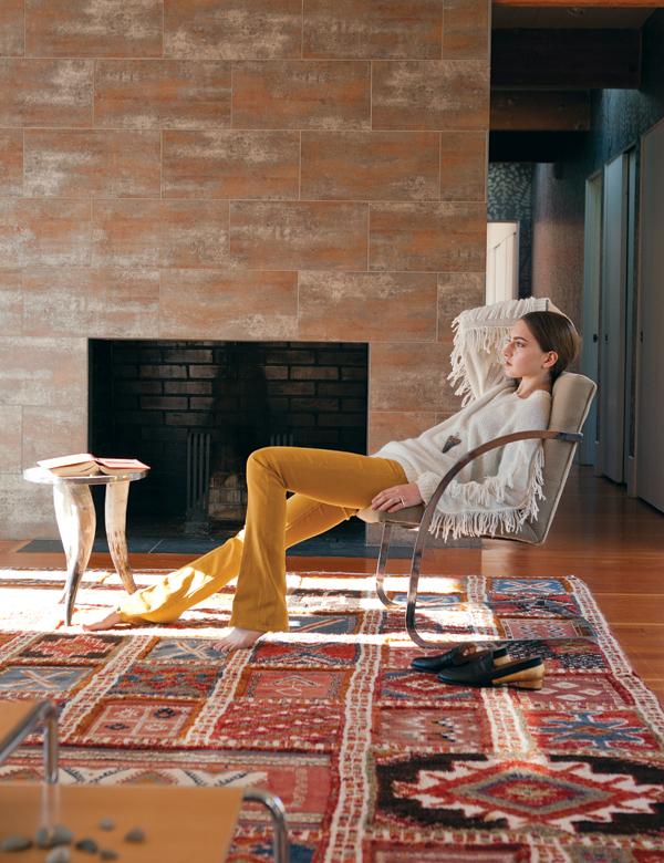 winter fashion in a modern home