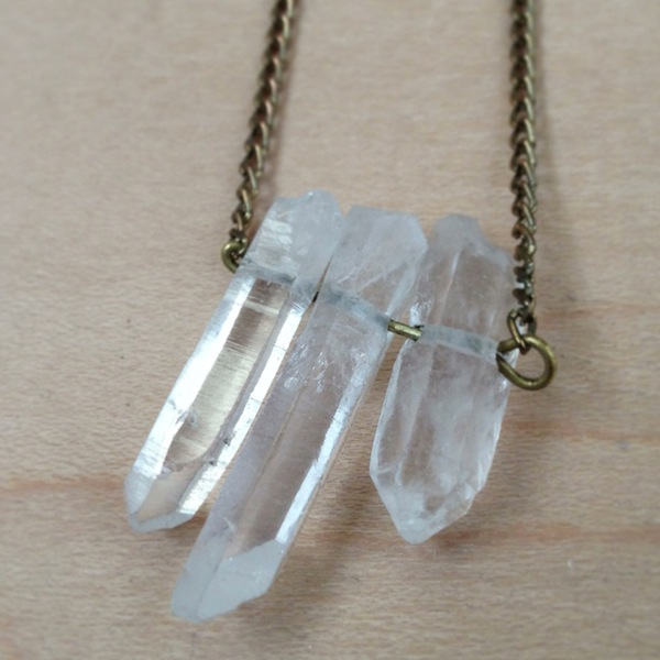 There There crystal necklace from Etsy