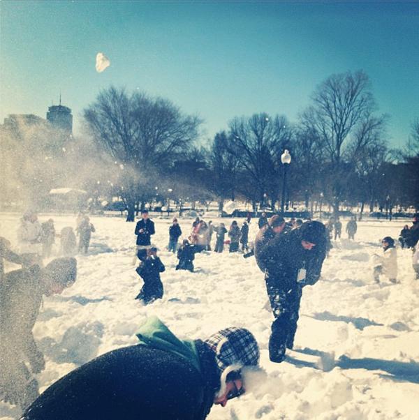 boston common snowball fight nemo