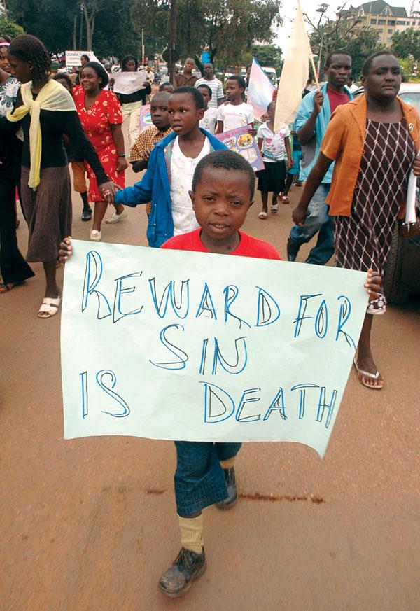 Anti-Gay March Uganda