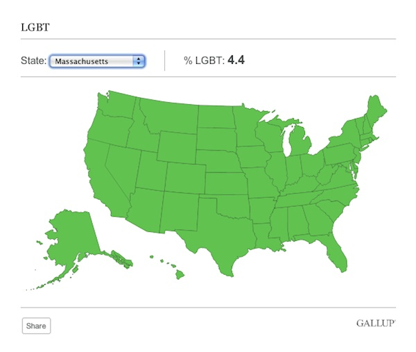 Youre So Gay Massachusetts - Gay population in us map