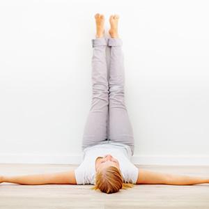 legs wall pose