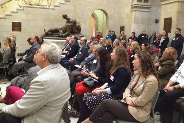 The crowd at Massachusetts Rare Disease Day