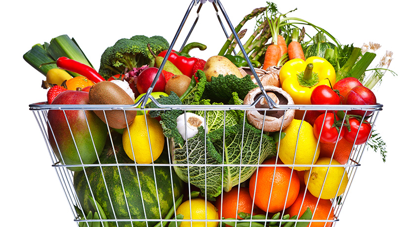 Fruit and Vegetables image via Shutterstock