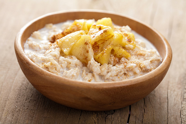 oatmeal with carmelized onions