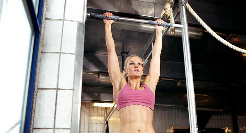 This is as far as we get when attempting a pull-up. Photo via Shutterstock