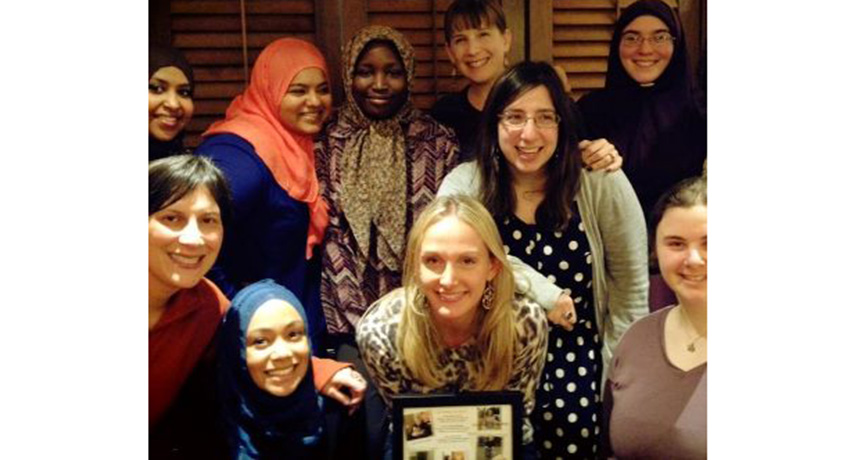 Group photo in Boston