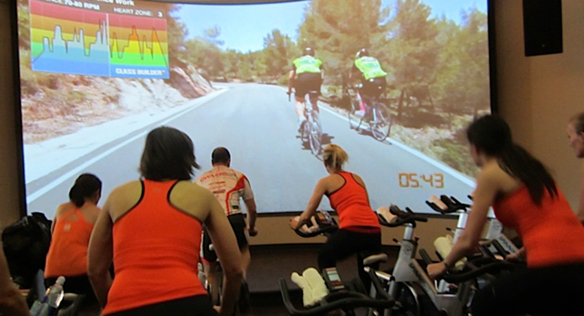 The coolest spin class ever? Photos provided.