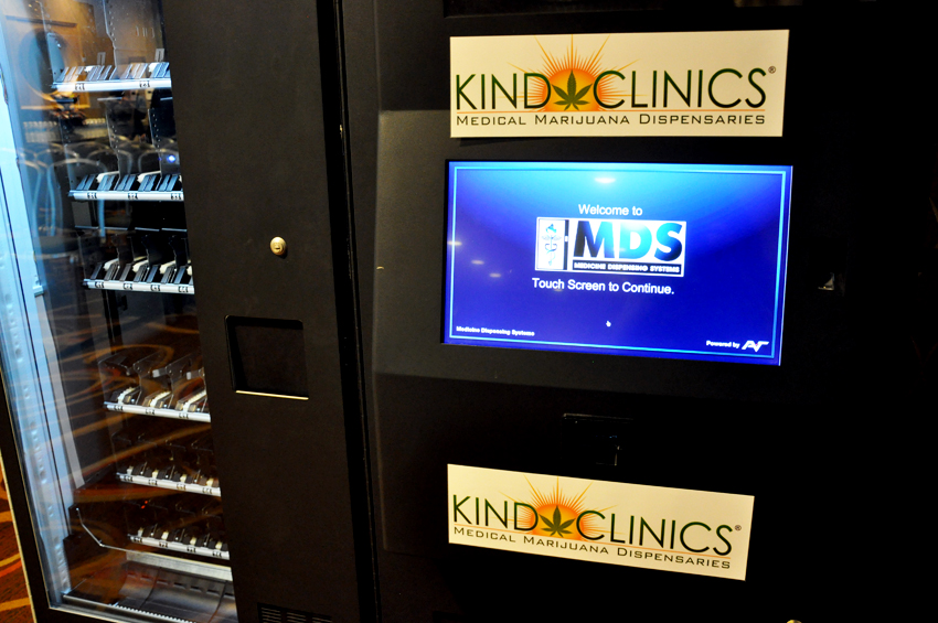 The MedBox Vending machine by Kind Clinics. Photo by Regina Mogilevskaya
