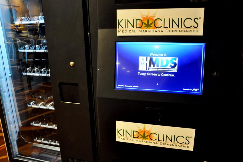 The MedBox Vending machine by Kind Clinics. Photo by Regina Mogilevskaya
