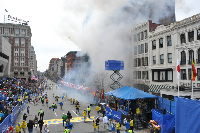 two explosions boston marathon