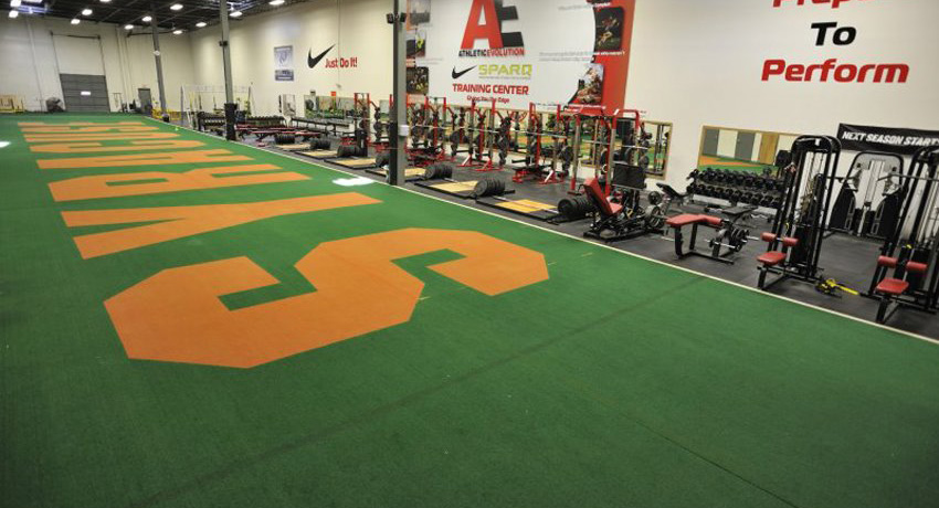 Athletic Evolution in Woburn, where they definitely lift a lot of weights. Photo provided.