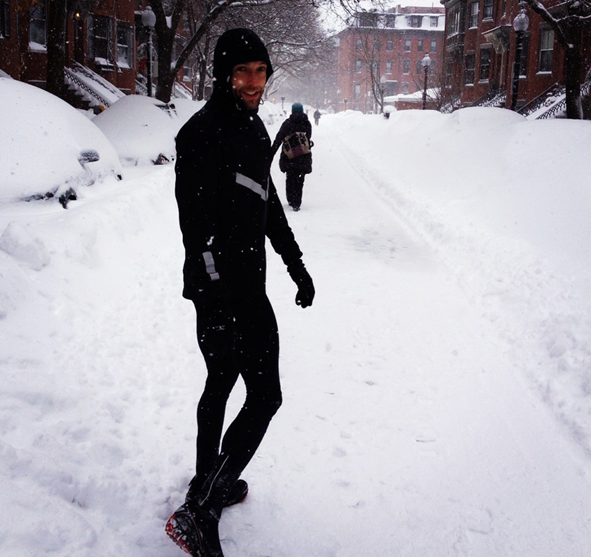 How do you train for a marathon? Try running in a Boston blizzard. Photo provided.