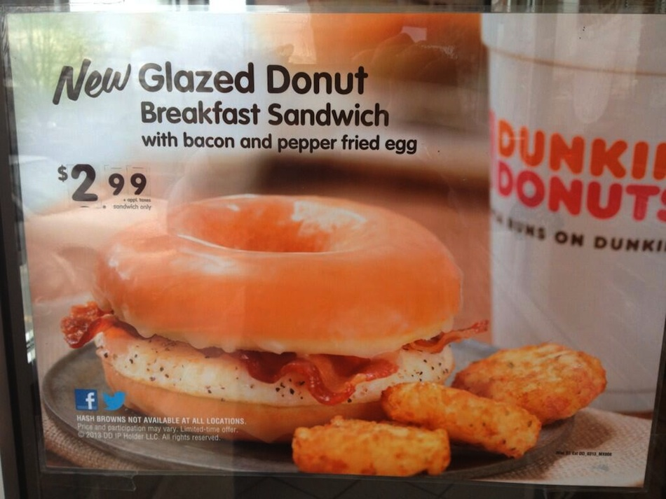 Dunkin Donuts Breakfast Sandwiches Now Featuring ... Donuts