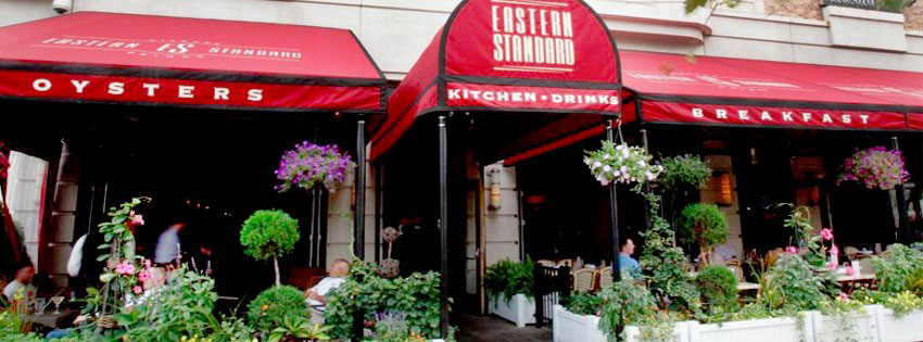 Enjoy drinks on the Eastern Standard patio this Marathon Monday (Photo via Eastern Standard/Facebook).