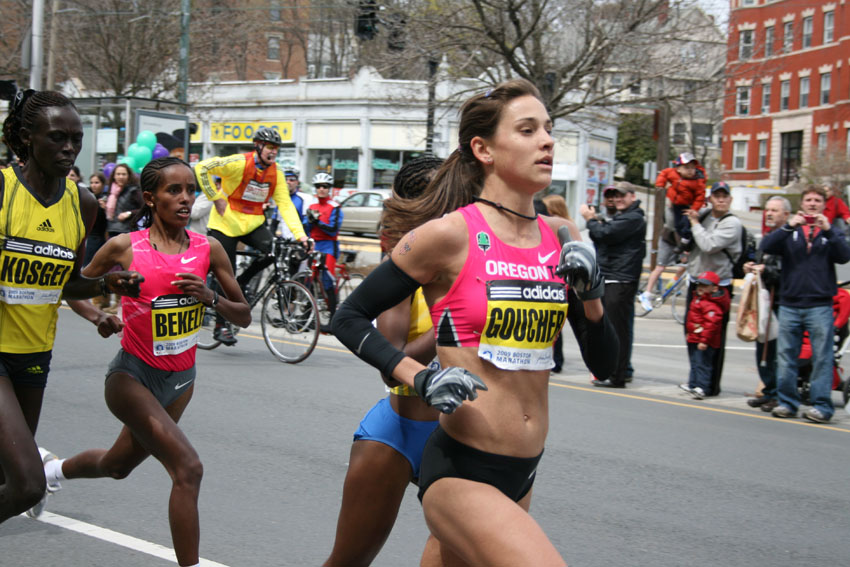 Kara Goucher will be vying for a top spot in this year's marathon (Photo via Stewart Dawson/Flickr)