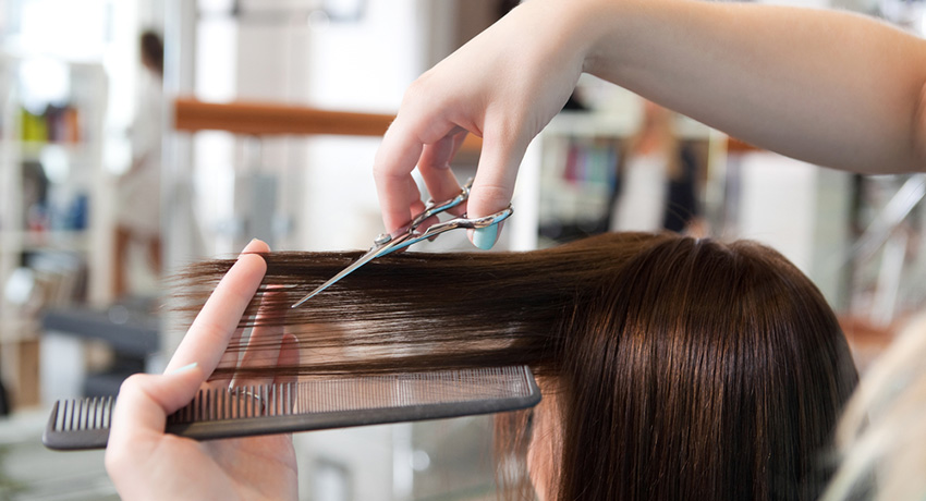 Haircut photo via Shutterstock