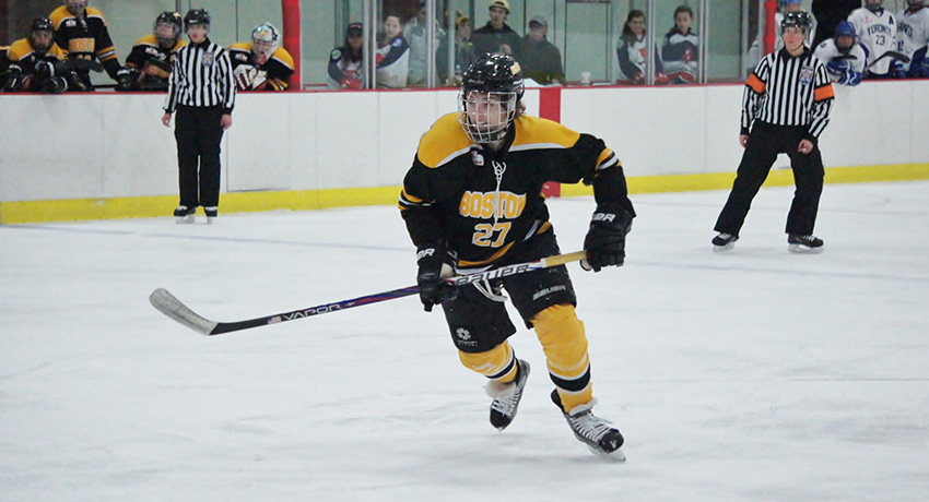 Hilary Knight in action for the Boston Blades