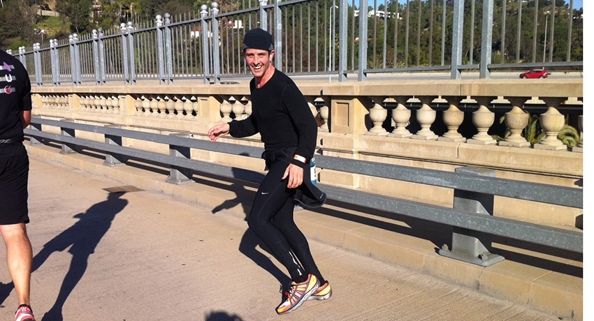 Joey McIntyre training for the Boston Marathon. Photo provided.