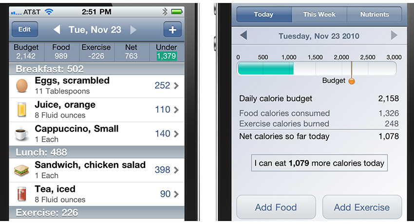 An example of Lose It!'s food log and progress tracker. Photo provided.