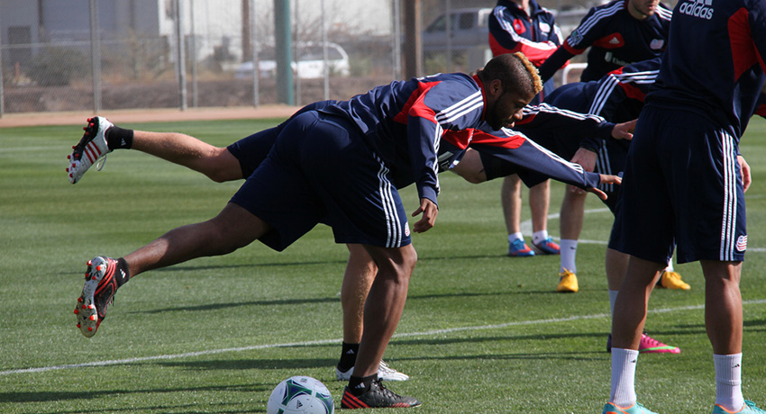 Revs players at practice. Photo provided.