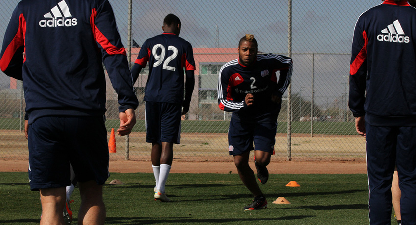 Revs players training at practice. Photo provided.
