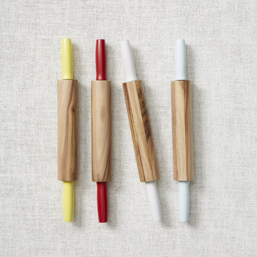 A signature Market item, dipped rolling pins, $19. (Photo courtesy of West Elm Market)
