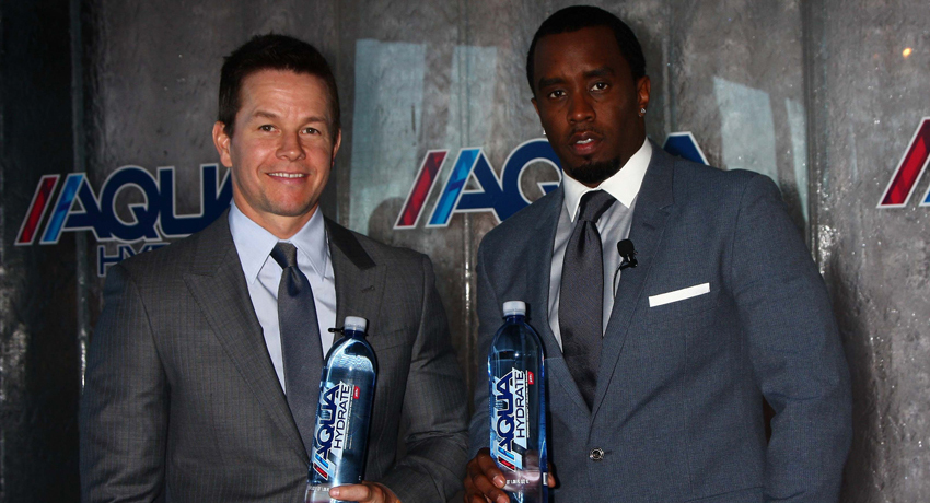 mark wahlberg sean combs p. diddy aquahydrate