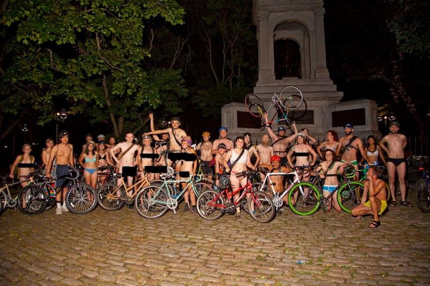 Photo courtesy of World Naked Bike Ride on Facebook.
