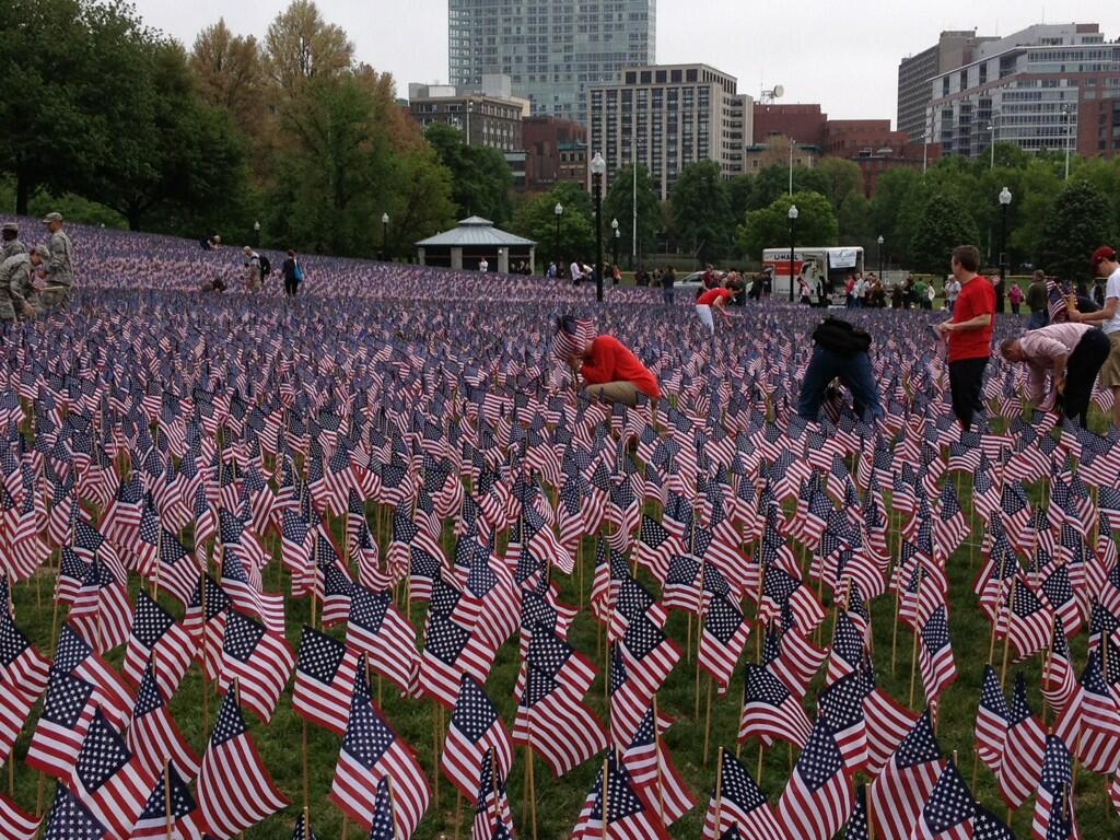 33,000 flags on Boston Common for Memorial Day 2013