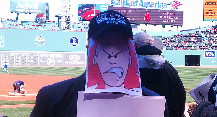 The Rabid Monk at Fenway. Brian Collins is there somewhere. (Photo provided)