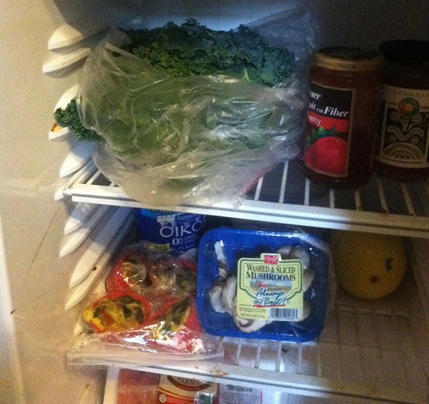 Manley says that he has his own mini fridge so that he doesn't have to see what his roommates eat. (Photo provided.)