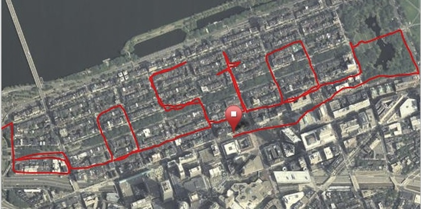 Runners Spell Out Boston During City Jog - How to map out a run