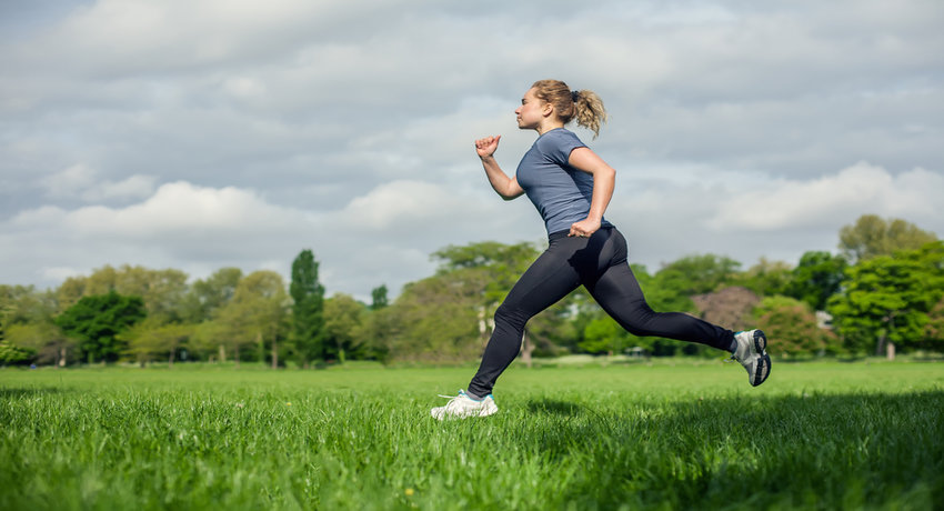 Running outdoors photo via Shutterstock