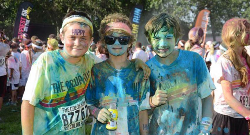 Kids at the Color Run in Fort Lauderdale. Photo via Facebook.