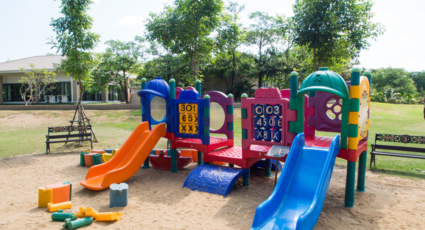 Time on the playground is good for your kids. Photo via shutterstock.