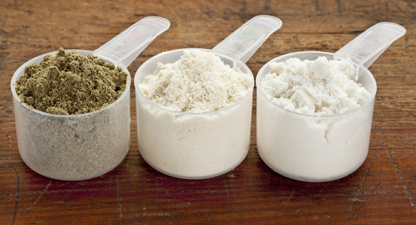 Protein powders photo via Shutterstock