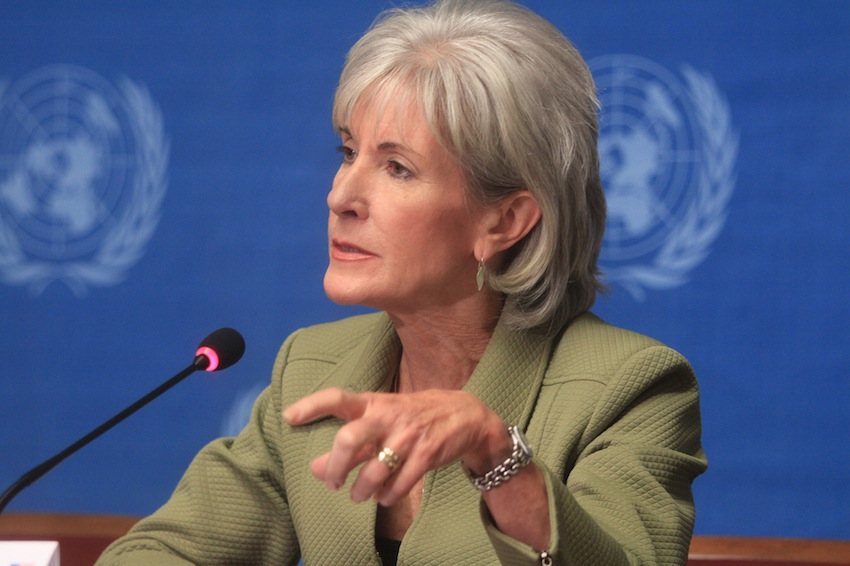 HHS Secretary Kathleen Sebelius, image via US Mission Geneva on Flickr
