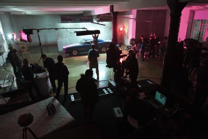 Filming a movie photo via Shutterstock.com