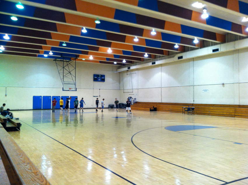 South End Fitness Center basketball court. Photo via Facebook.