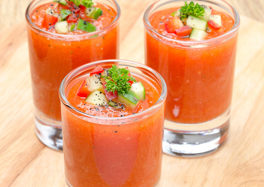 Gazpacho photo via Shutterstock