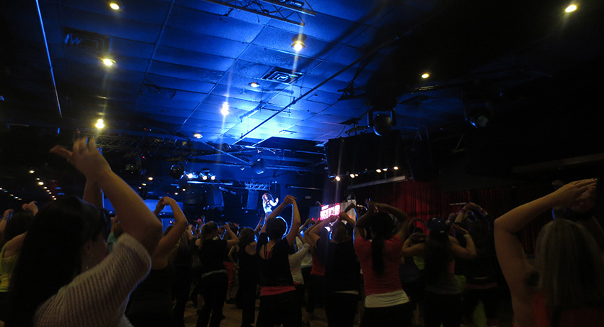 The Zumba party in Revere last month.