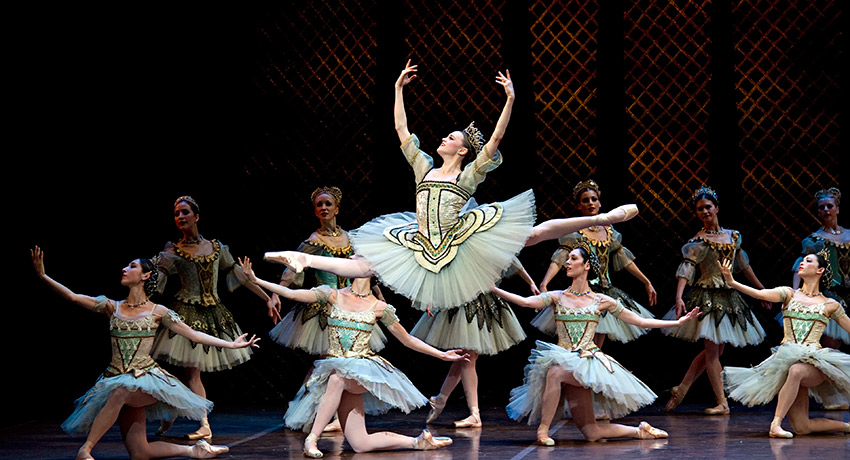 Dusty Button in Boston Ballet's Don Quixote by Gene Schiavone. All photos provided by the Boston Ballet.